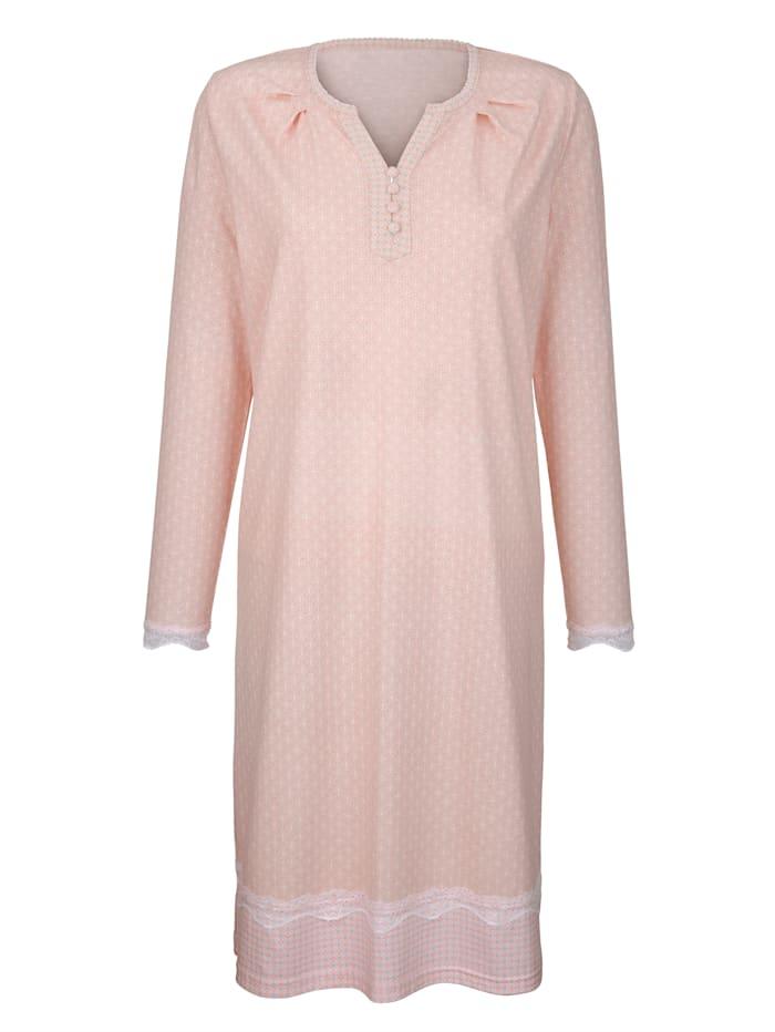 Simone Nachthemd mit süßen Spitzendetails, apricot/nude/ecru