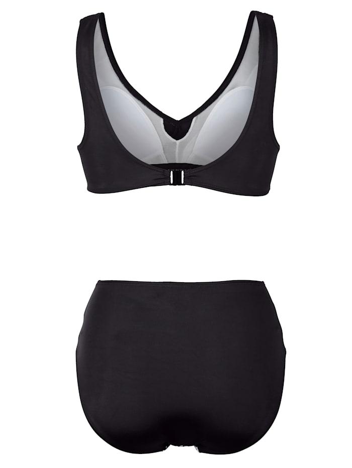 Bikini im modischen Schwarz-Weiß Design