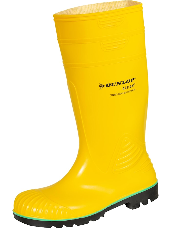 Dunlop Sicherheitsstiefel Acifort Chemical S5, gelb/grün/schwarz