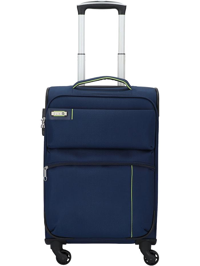 D&N Travel Line 6754 4-Rollen Kabinentrolley 55 cm, blau