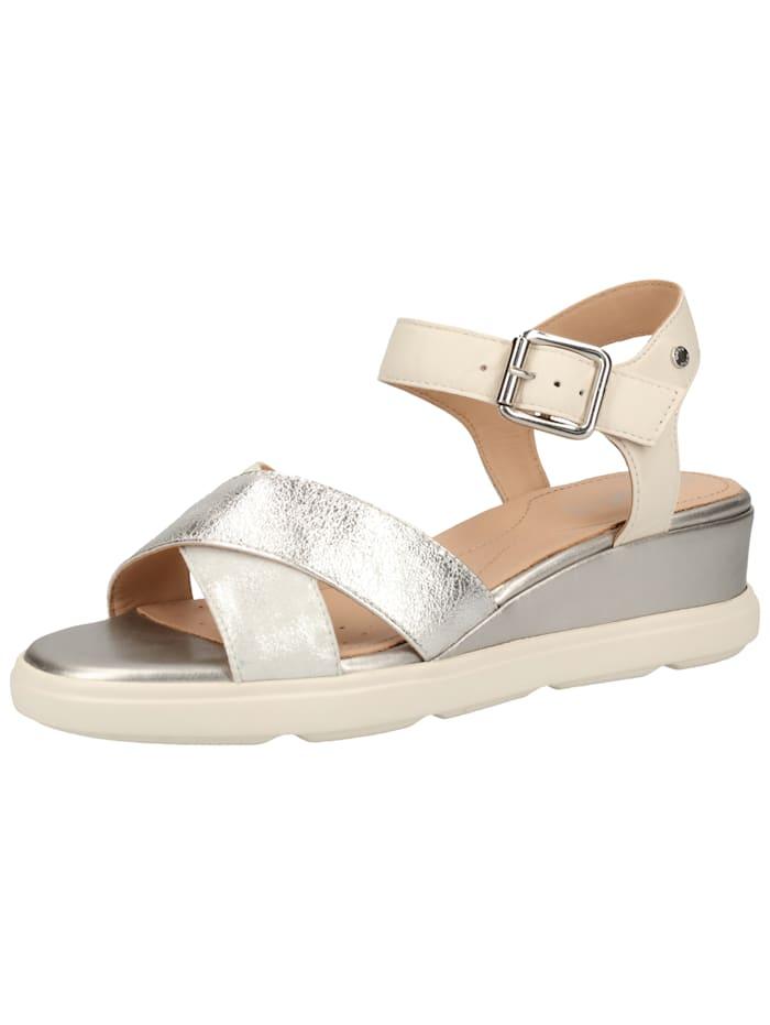 Geox Geox Sandalen, Silber/Weiß