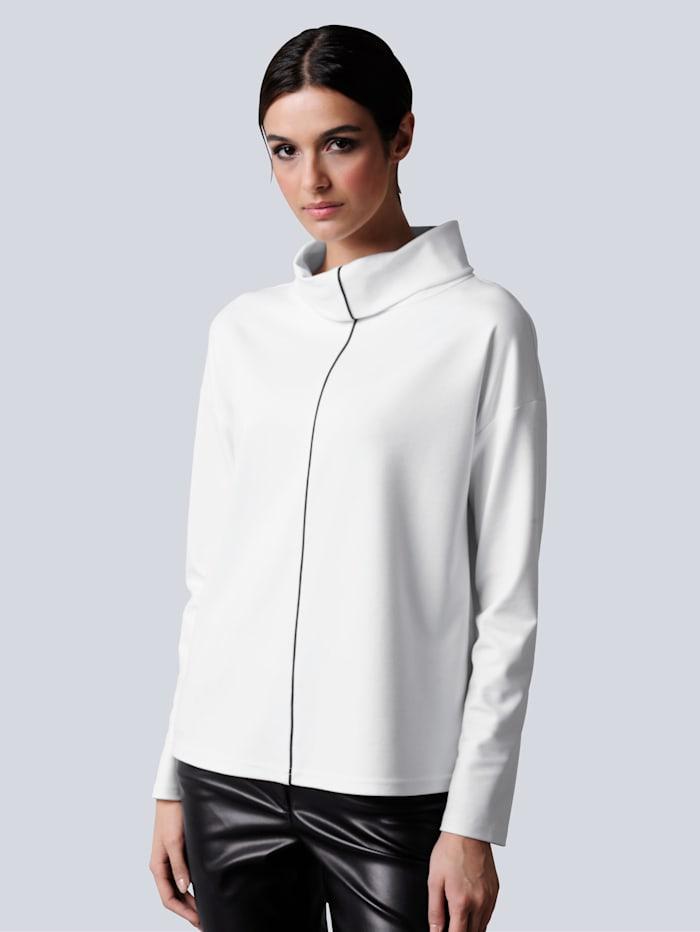 Alba Moda Shirt im modischen Oversized-Look, Off-white