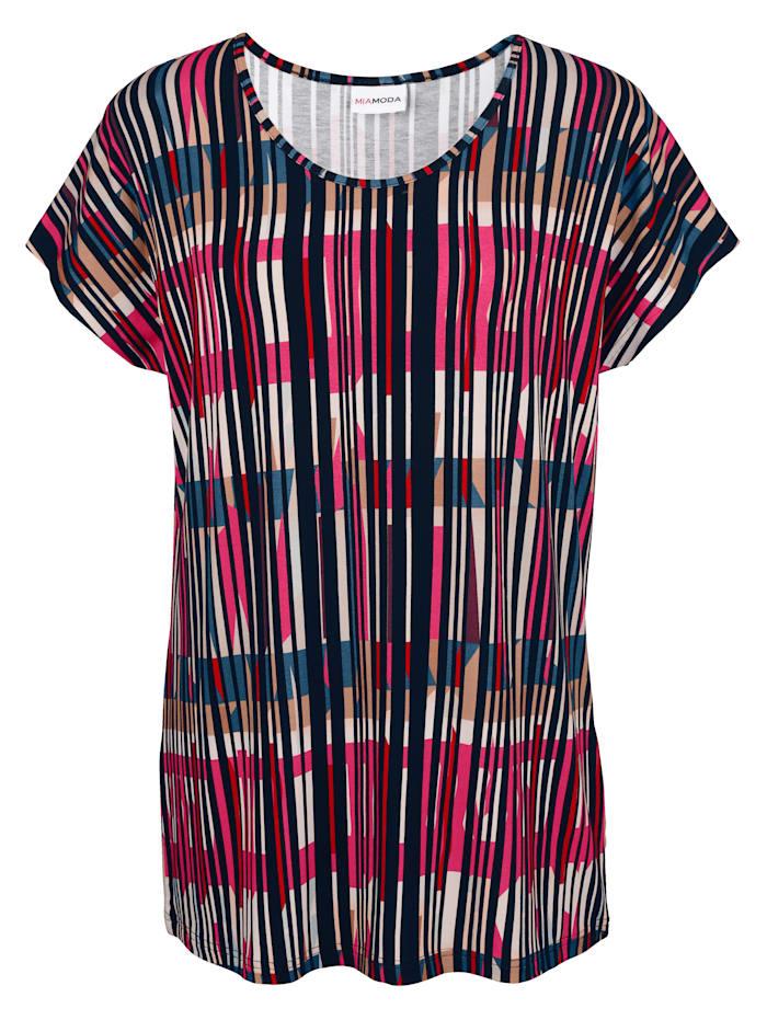 Shirt Modischer Streifendruck