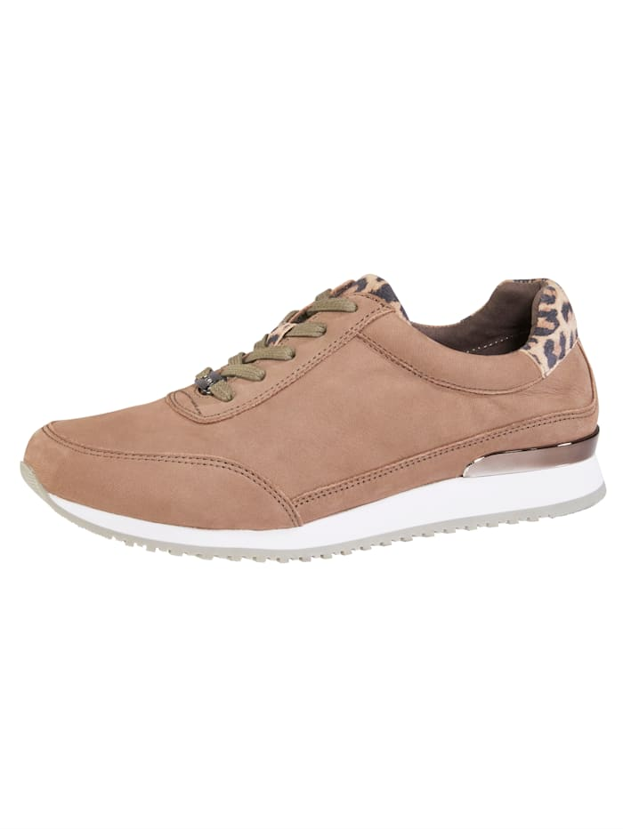 MONA Lace-up shoes in a unique design, Taupe