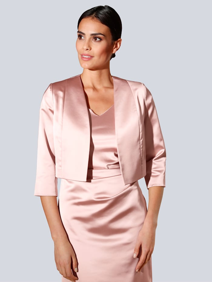 Alba Moda Bolero-Blazer in klassischer Silhouette, Rosé