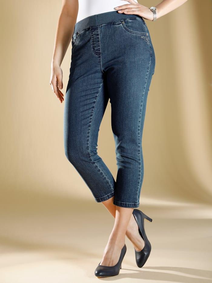 m. collection Jeans i caprilängd, Blue stone