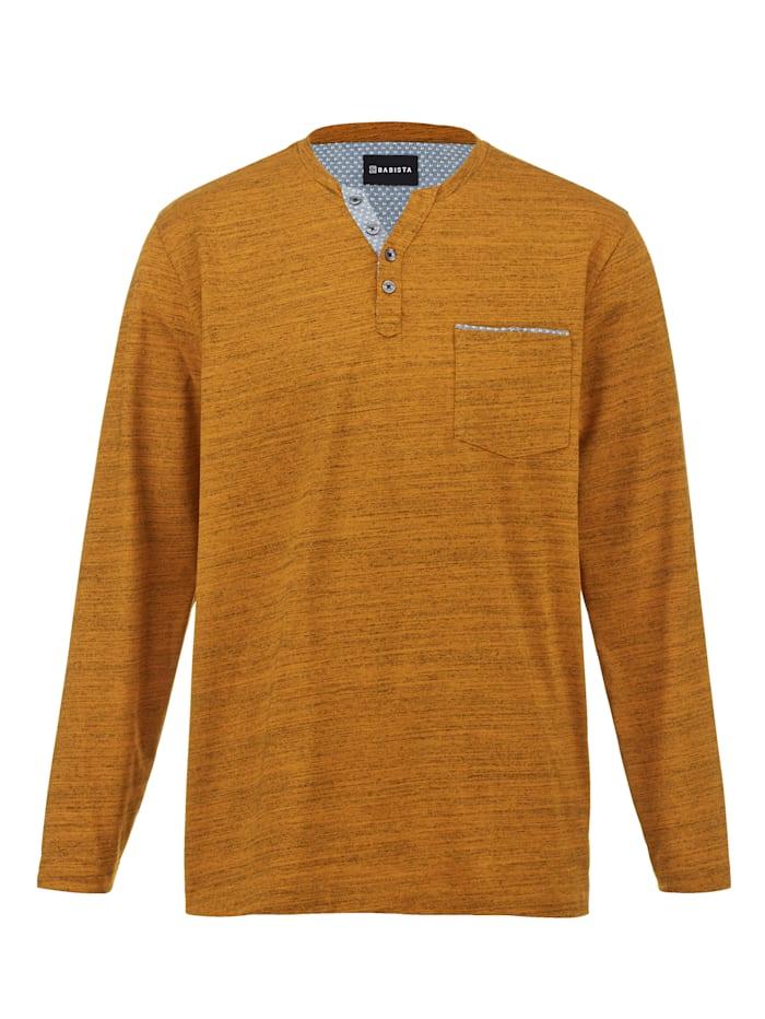 BABISTA Henleyshirt aus pflegeleichter Baumwoll-Mischung, Camel