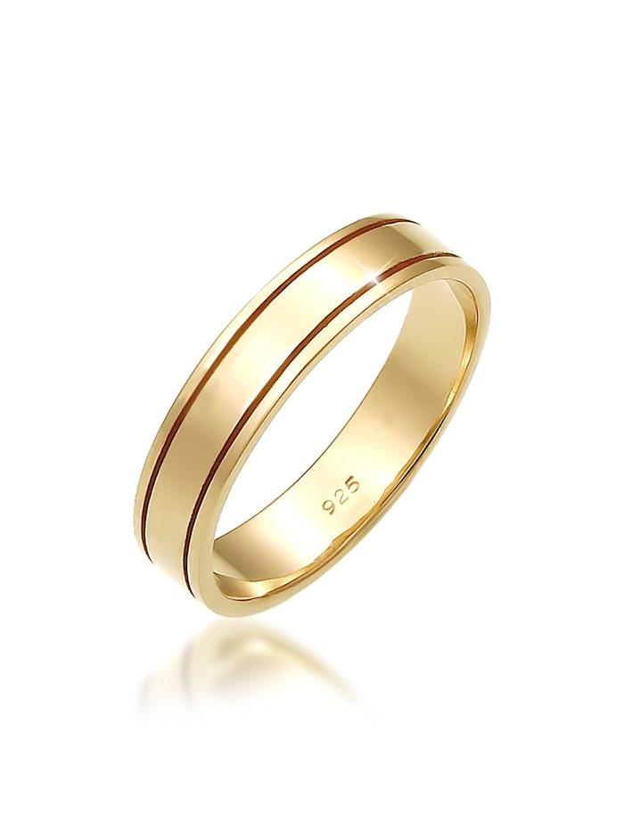 Elli Premium Ring Paarring Bandring Trauring Hochzeit 925 Silber, Gold