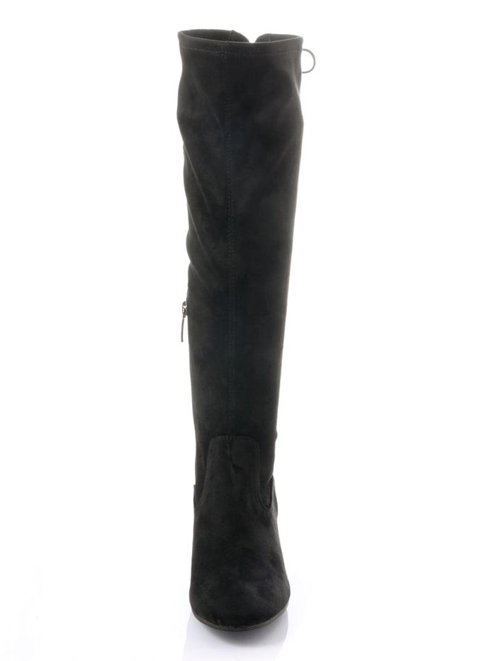 Stiefel in Veloursoptik