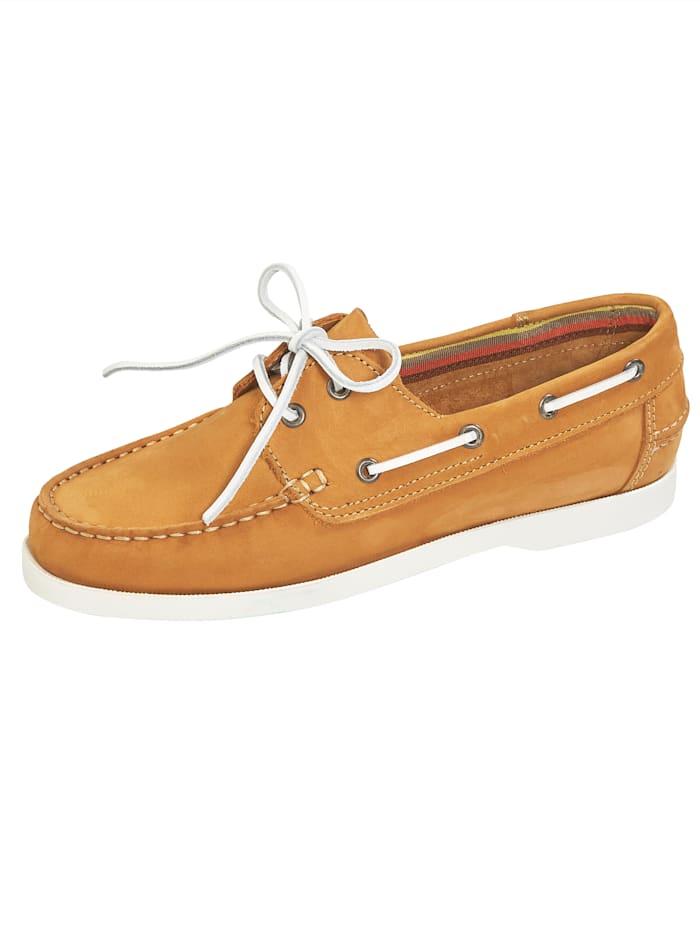 BABISTA Šnurovacia obuv v námorníckom vzhľade, Hnedá