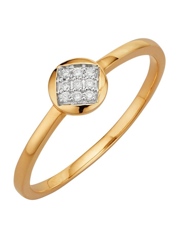 Diemer Highlights Damesring met diamanten, Wit