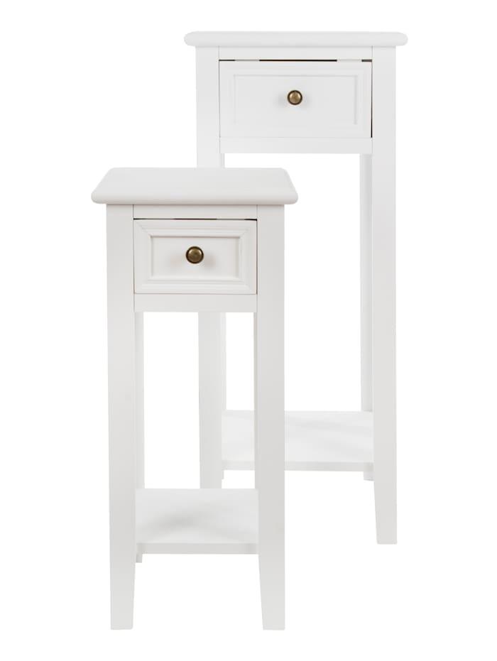 TopHome Beistelltisch-Set, 2-tlg., Weiß