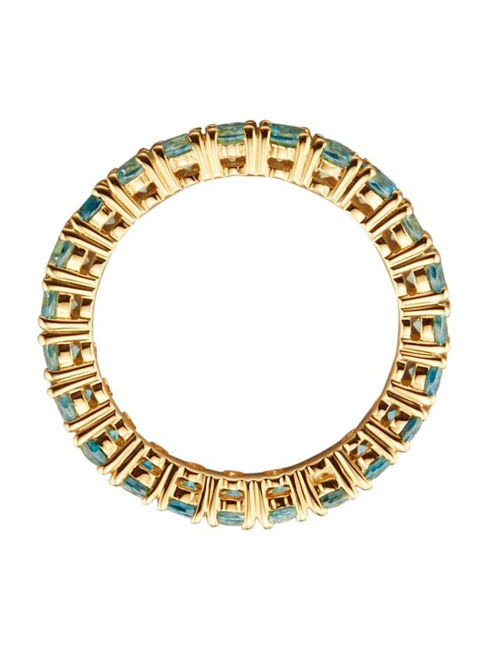 Memoire-Ring mit Zirkonen