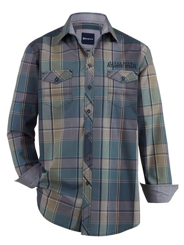 BABISTA Hemd mit zwei Brusttaschen, Grün/Beige