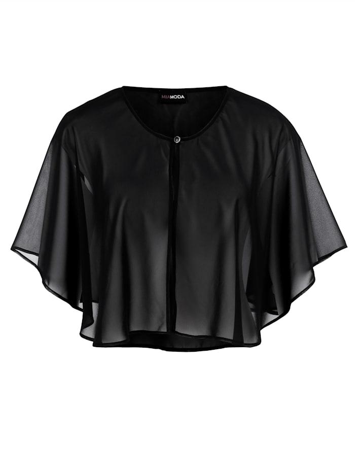 Cape van soepelvallende blousestof