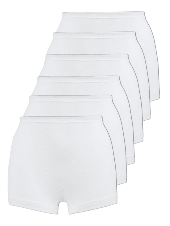 Naturana 6er Sparpack Damen Pagenschlüpfer, Weiss