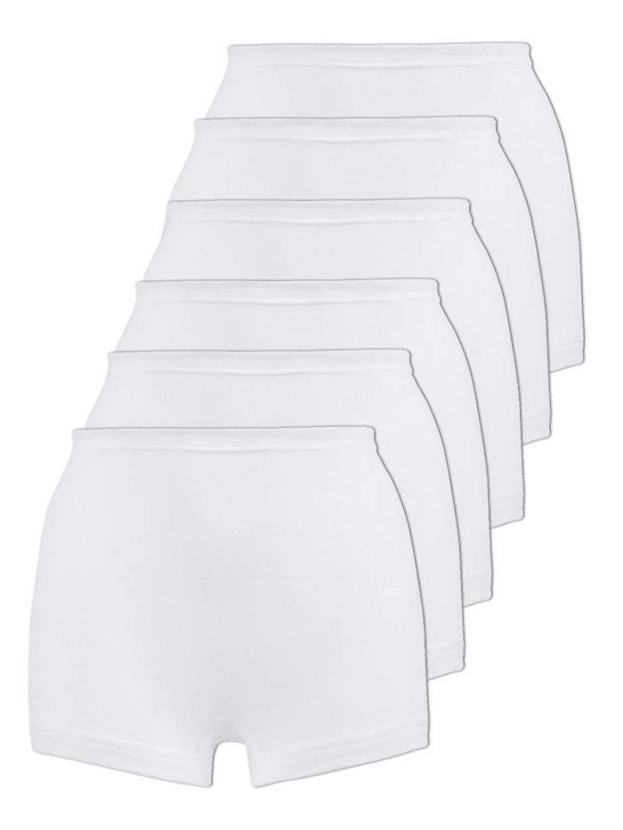 Naturana 6er Sparpack Damen Pagenschlüpfer 6er Pack, Weiss
