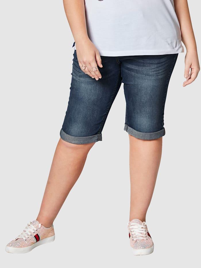 Jeansshort met omslag