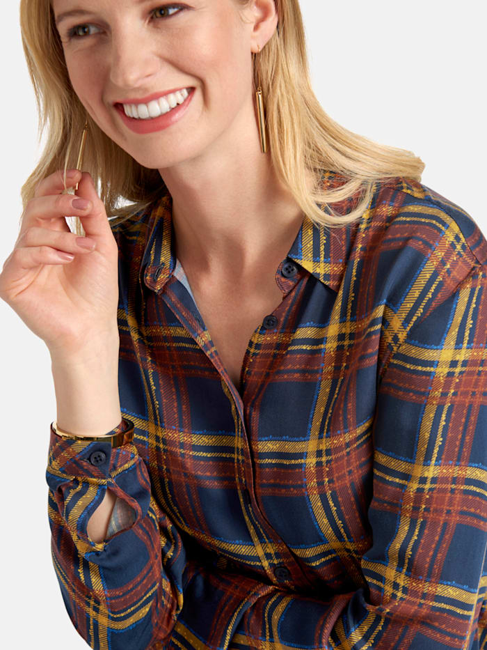 Hemdbluse mit Karomuster in Tartan-Style