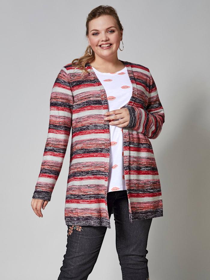 Dlhý prúžkovaný sveter