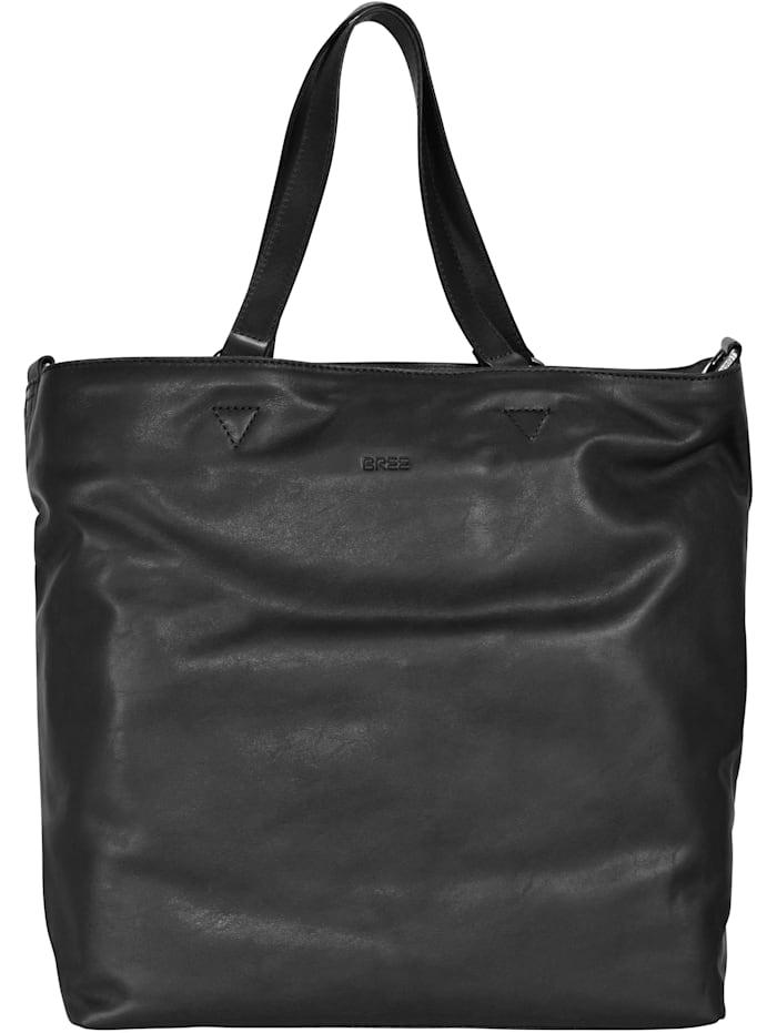 Bree Stockholm 34 Shopper Tasche Leder 38 cm, black