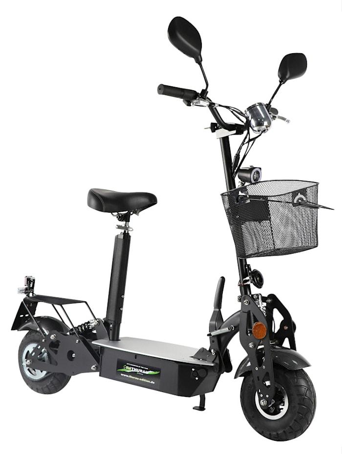 FORCA Elektro City Roller, Basic - mit Korb, schwarz