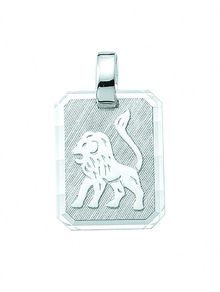1001 Diamonds Damen & Herren Silberschmuck 925 Silber Sternzeichen Anhänger Löwe, silber