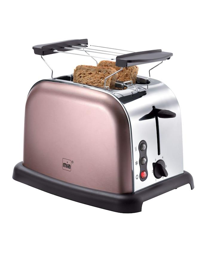 Retro Edelstahl-Doppelschlitz-Toaster TA 4712RG, rosé, rosé