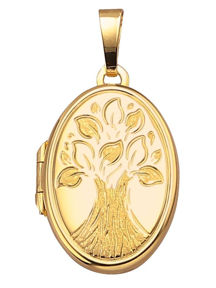Medaillon Levensboom, Geel