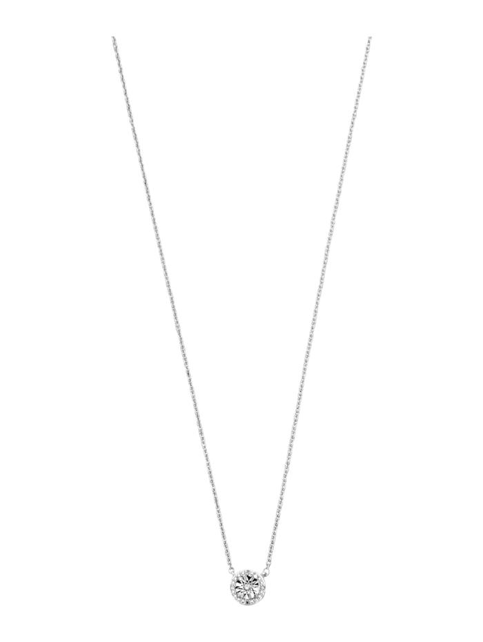 KLiNGEL Collier mit Diamant, Silberfarben