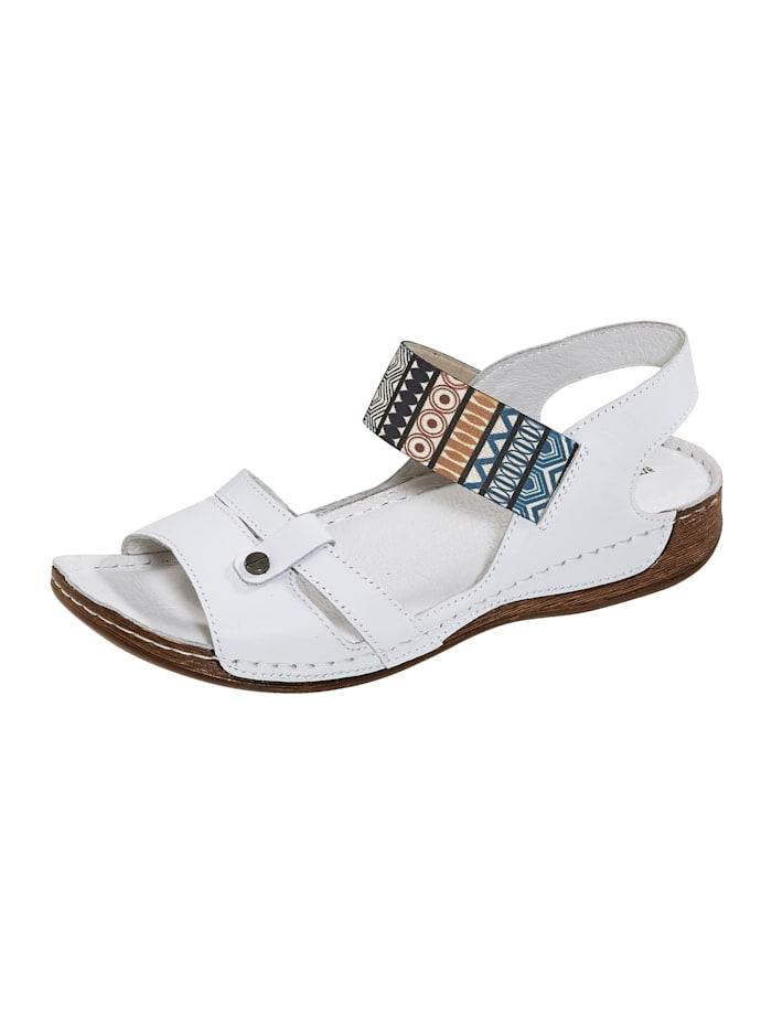 Naturläufer Sandalette mit elastischem Band, Weiß