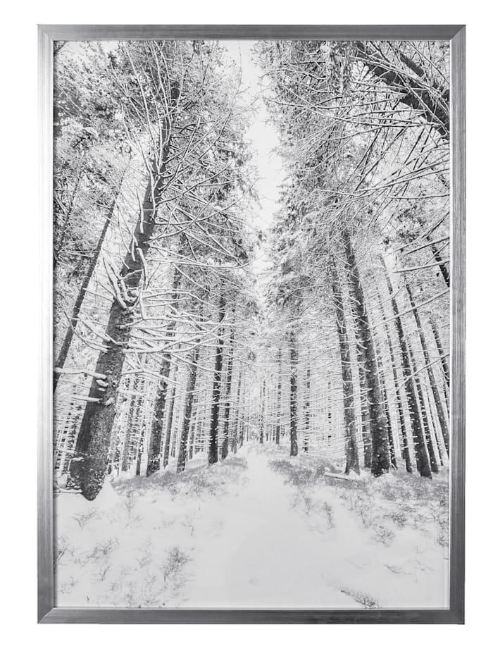 IMPRESSIONEN living Image encadrée, Noir/blanc