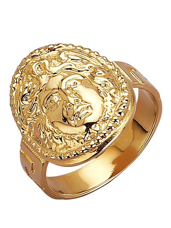 Diemer Gold Medusa-Ring, Gelb
