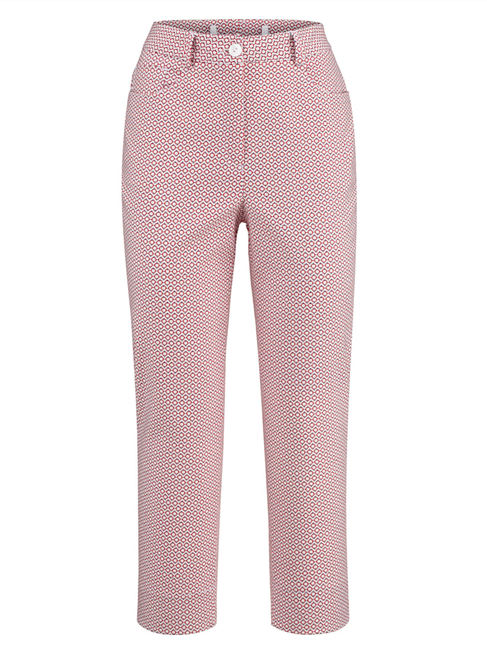 Trousers in a graphic pattern