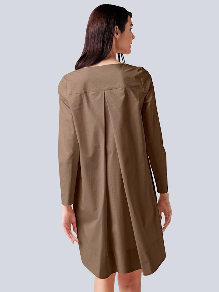 Kleid in elastischer Qualität mit hohem Baumwollanteil