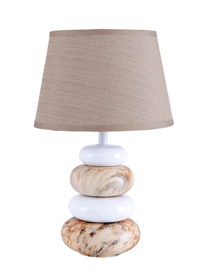 Näve Lampe de table, Blanc/marron
