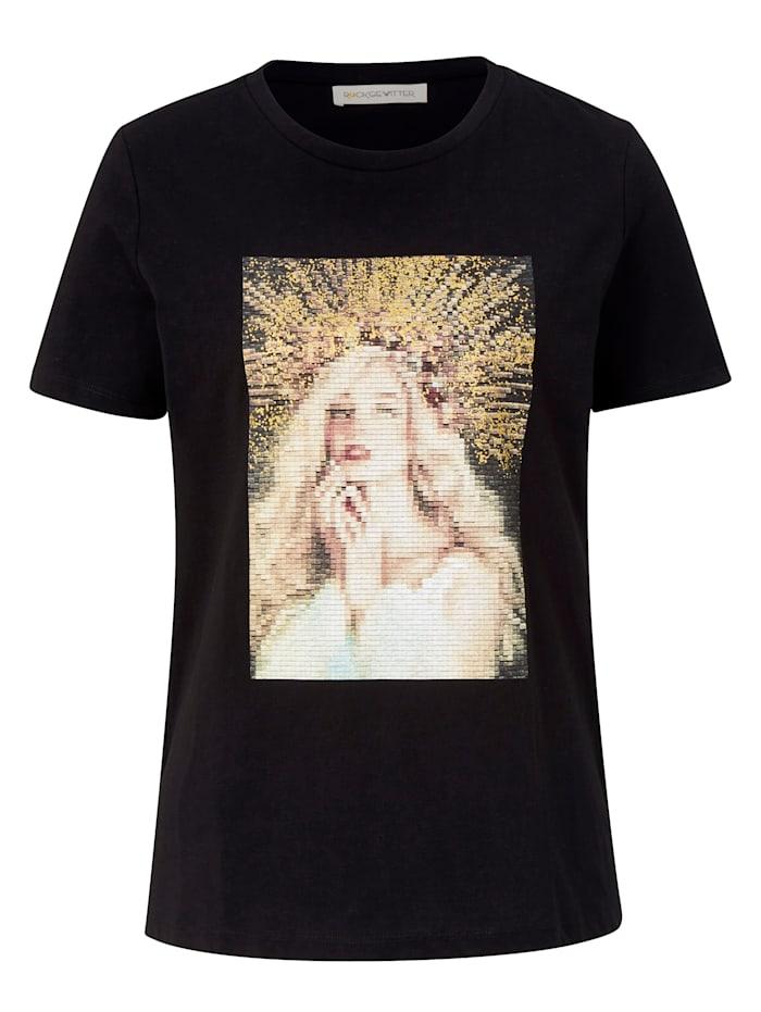 ROCKGEWITTER Shirt mit Kunstdruck, Schwarz