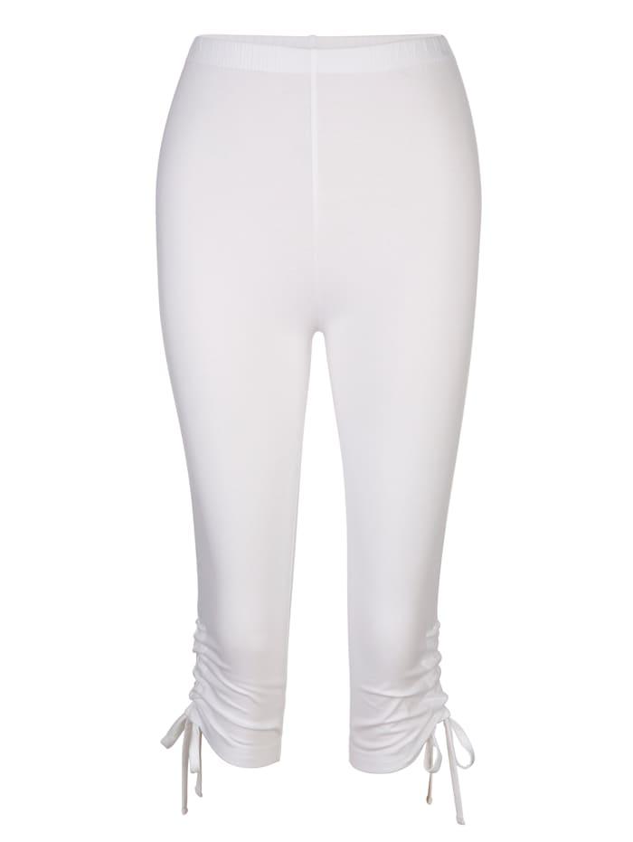 Maritim Legging met bindbandje aan de pijpzomen, Wit