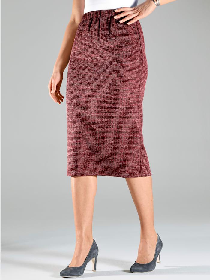m. collection Jersey rok van gemêleerd materiaal, Bordeaux