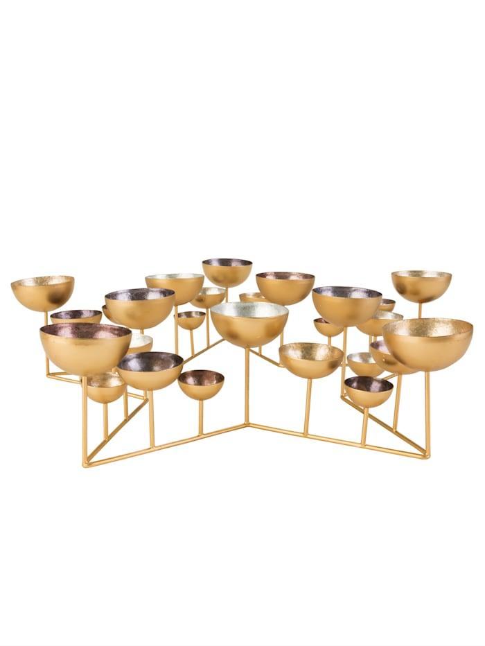 IMPRESSIONEN living Teelichtschale, Stern, gold-/silber-/bronzefarben/grau