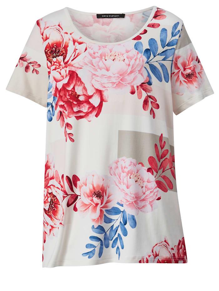 Tričko s celoplošnou kvetinovou potlačou