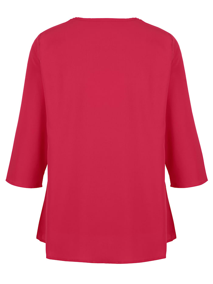 Blusjacka i crepematerial