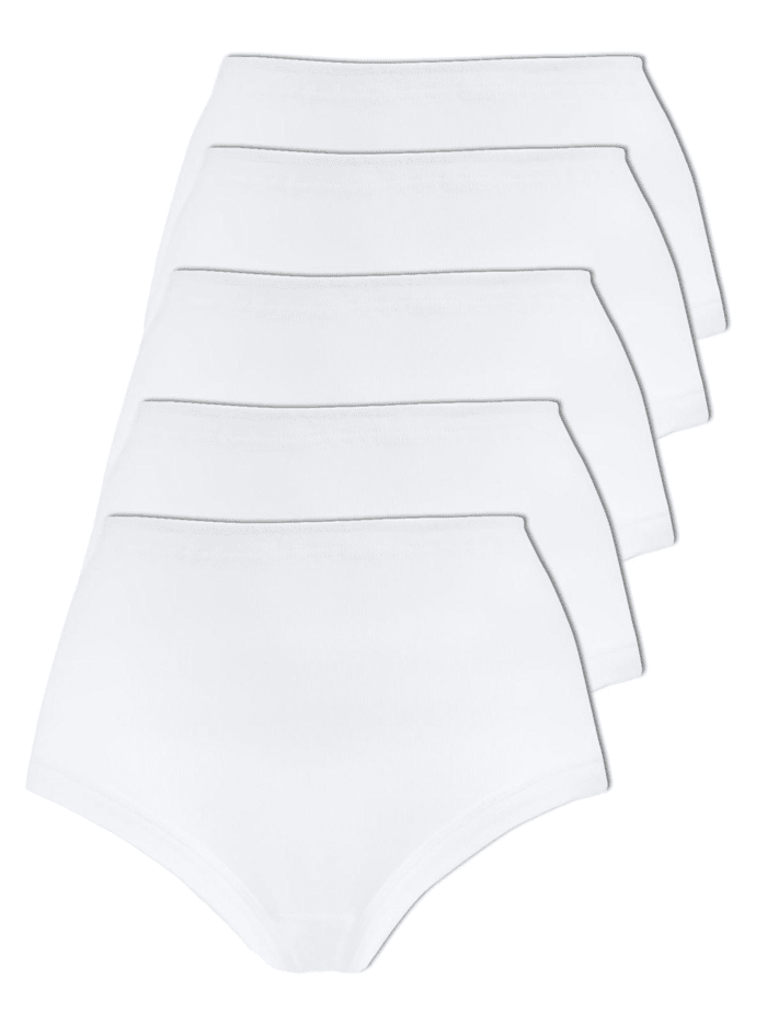 Naturana 5er Pack Damen Slips, Weiss