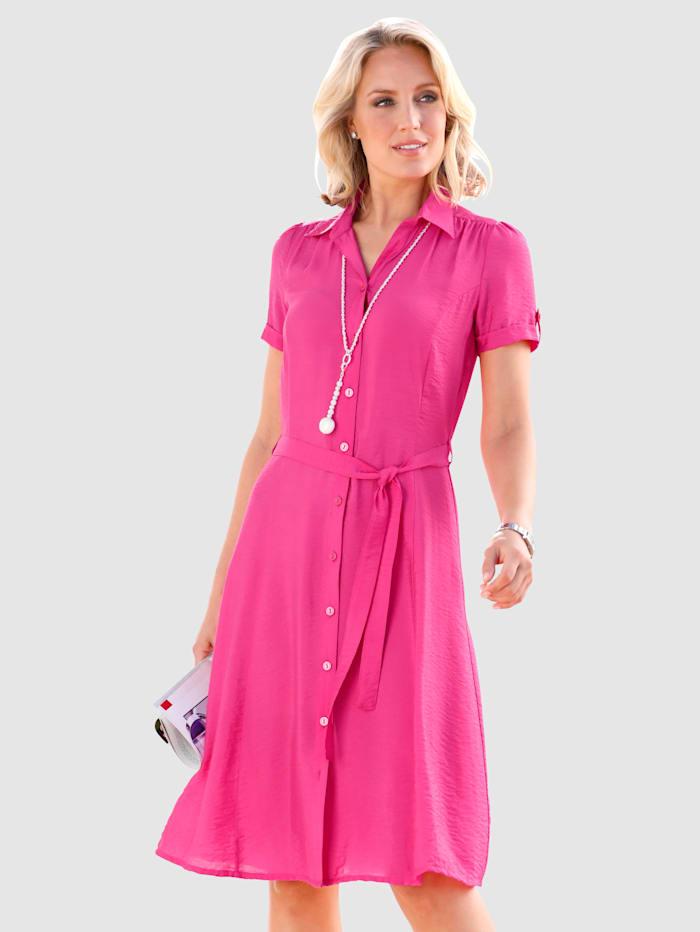Paola Blusenkleid mit Bindeband, Pink