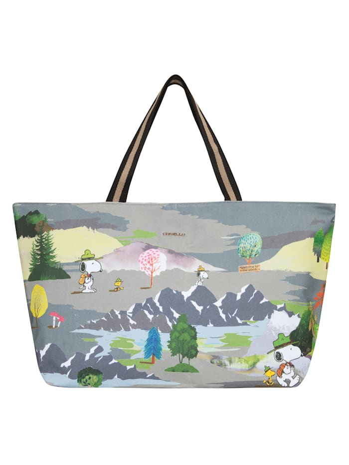 "Codello ,,PEANUTS"" Weekender mit Snoopy & Co. aus Canvas, olive"