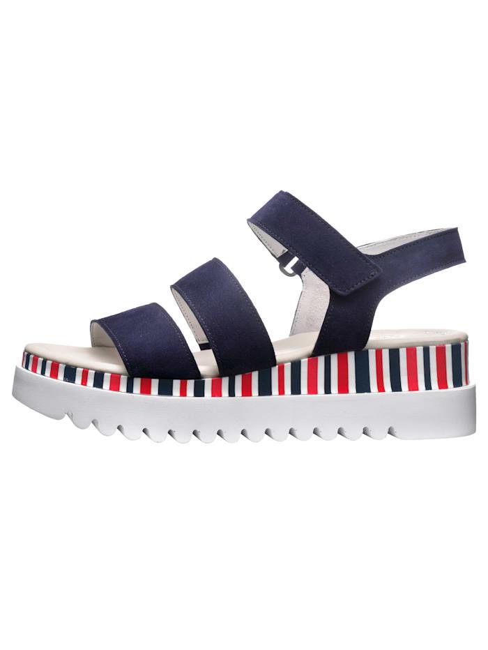 Sandales à plateau avec brides auto-agrippantes ajustable
