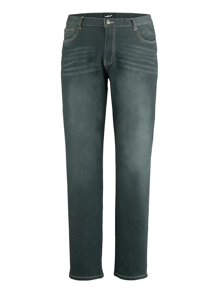 Men Plus Jeans mit Gallonstreifen, Dunkelgrün