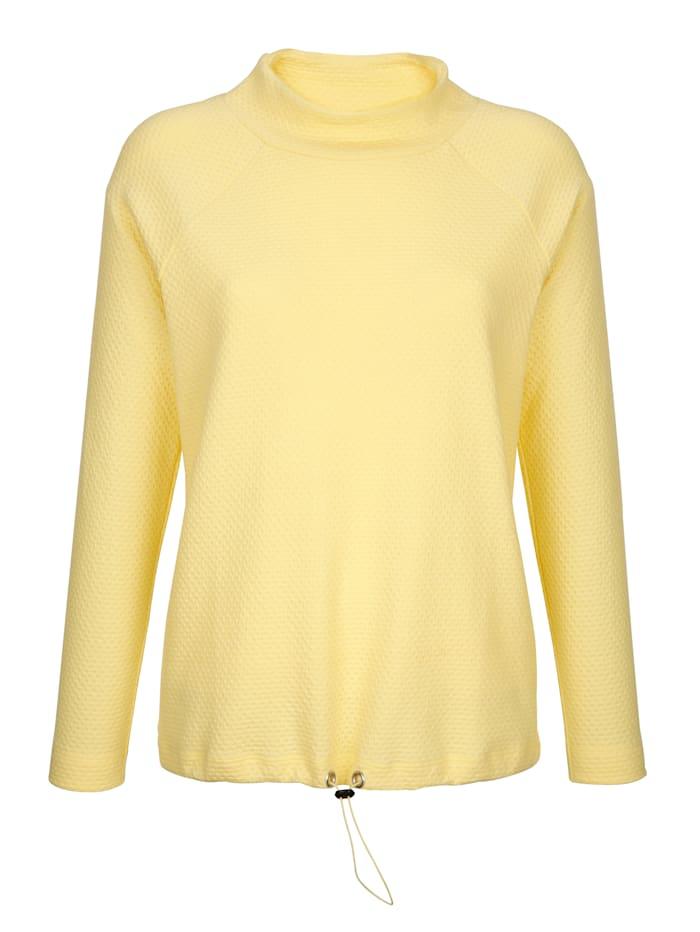 Sweatshirt van mooi structuurmateriaal