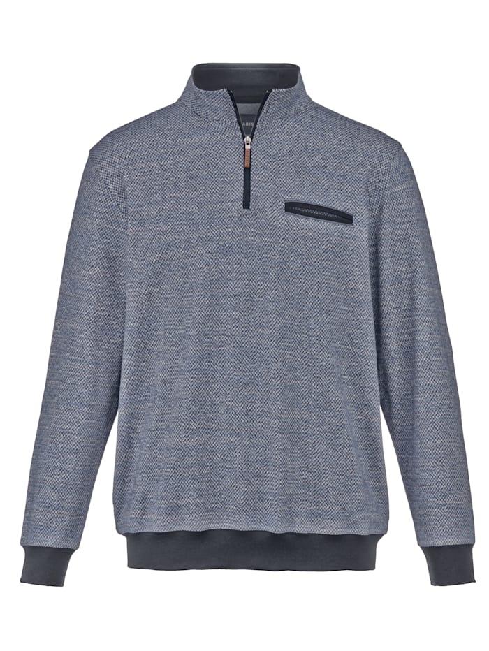 Babista Premium Sweat-shirt à traitement téflon anti-taches, Bleu/Gris