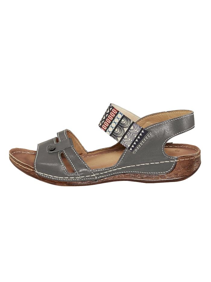 Sandales avec maintien par élastique souple